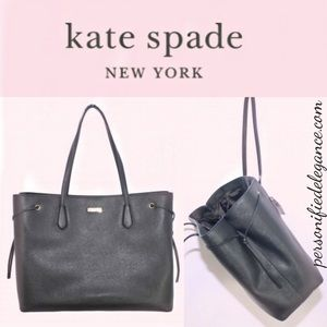 Kate Spade Laurel Way Ari XL Black Leather Tote